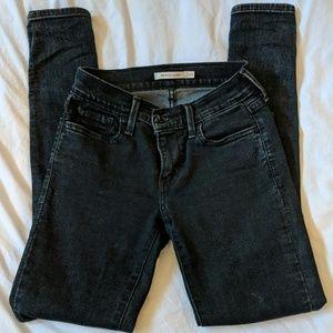 Levi's Women's 710 super skinny black jeans